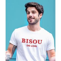 "Tee-shirt homme ""Bisou de loin"" Monsieur Tshirt"