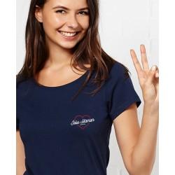 "Tee-shirt femme ""Jolie maman"" brodé Madame Tshirt"