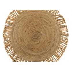 Tapis rond à franges diamètre 120 cm La maison de Lilo