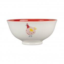 Mini bol poule rouge 30cl Jardin d'Ulysse