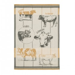Torchon Races bovines 50 X 75 cm Coucke