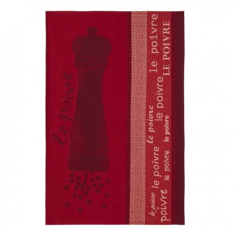 Torchon Poivre rouge 50 X 75 cm Coucke