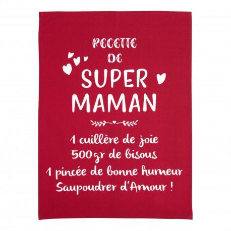 Torchon message Super Maman 50 x 70 cm Winkler