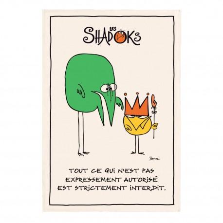 """Torchon de cuisine Shadoks """"Les interdits"""" Torchons et Bouchons"""