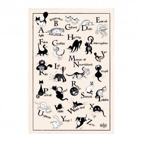 """Grand torchon Dubout """"Abecedaire"""" 48 x 72 cm Torchons et Bouchons"""