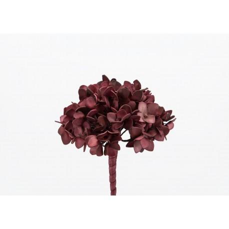Fleur artificielle Hortensia bordeaux h70 cm Amadeus