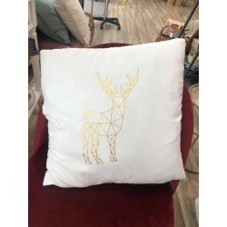 Coussin cerf blanc 45 x 45 cm Country Casa