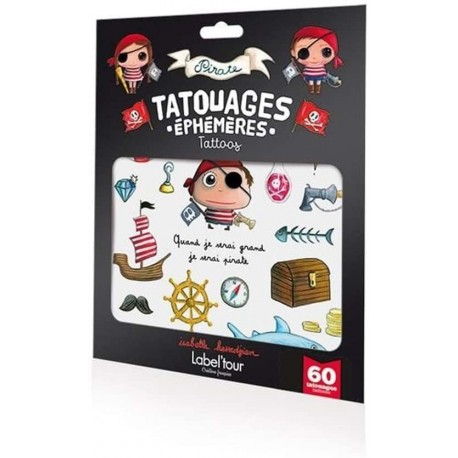 Tatouages éphémères Pirate Label'tour