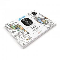Carnet de 24 sets de table à colorier Label'tour